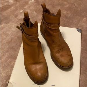 Used. Acne Tan Leather Boots